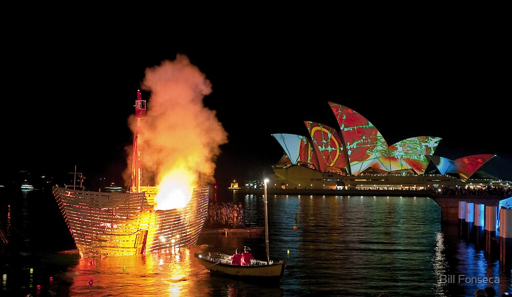 Fire Water (Sydney - Campbells Cove, The Rocks) by Bill Fonseca
