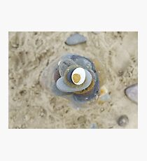Pebble tower from above Photographic Print