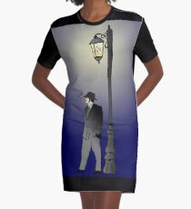 Detective under street lamp Graphic T-Shirt Dress