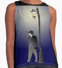 Detective under street lamp Contrast Tank