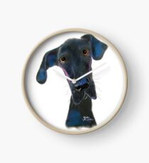 Great Dane DoG PRiNT ' HaRPeR ' BY SHiRLeY MacARTHuR Clock