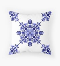 Victorian,  Victorians, Tile, Ornament, Design, Blue, Delft Floor Pillow