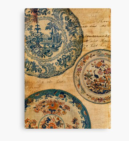 antique plates Canvas Print