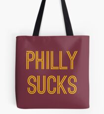 Philly Sucks - Burgundy/Gold Tote Bag