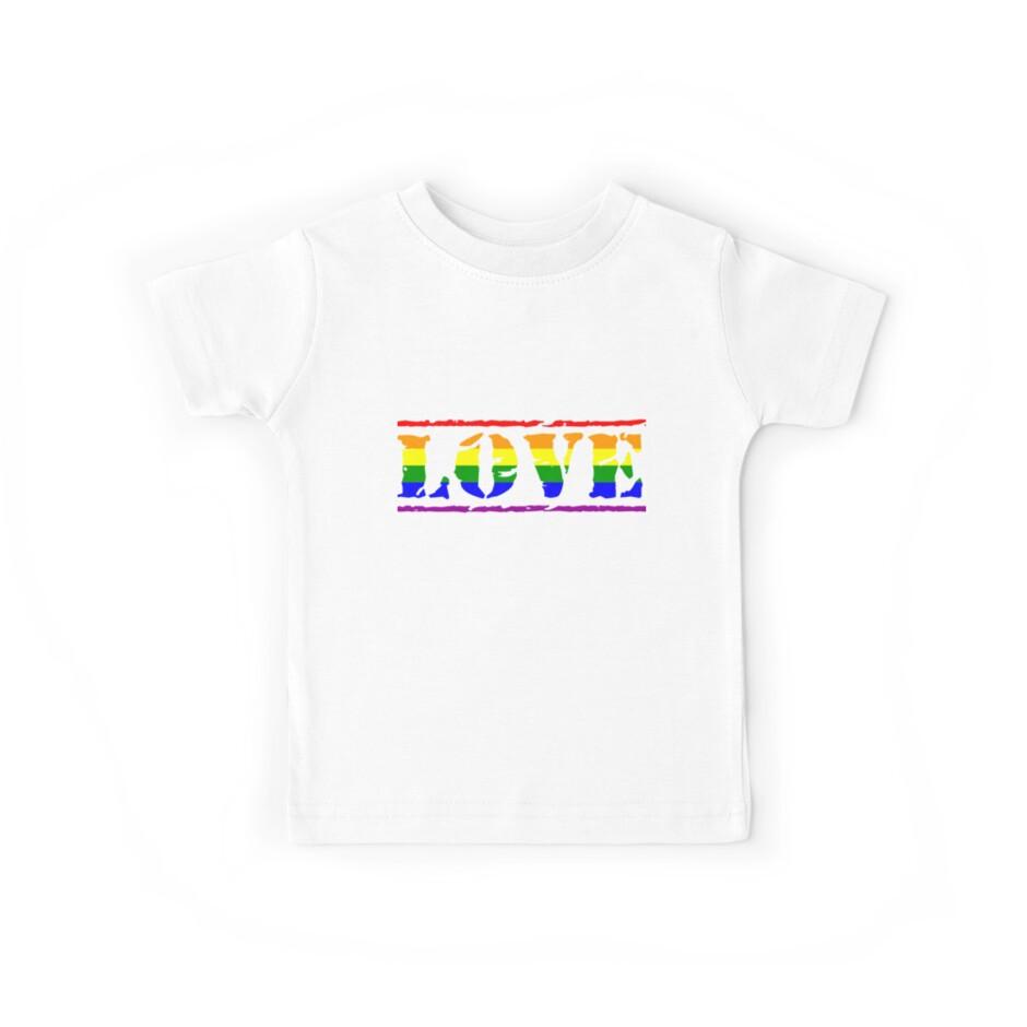Rainbow Love Flag Pride Stamp LGBTQIAPK by cnkna
