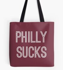 Philly Sucks - Burgundy/White Tote Bag