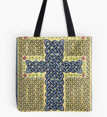 Celtic Cross and Roses Tote Bag