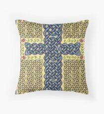 Celtic Cross and Roses Throw Pillow