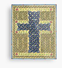 Celtic Cross and Roses Metal Print