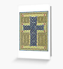 Celtic Cross and Roses Greeting Card