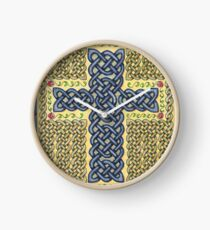 Celtic Cross and Roses Clock
