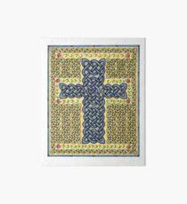 Celtic Cross and Roses Art Board