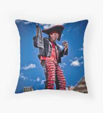 Sword Swallower Throw Pillow