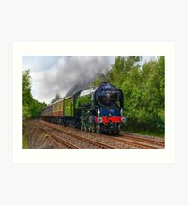 Tornado Steam Train Art Print