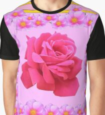 PINK ROSE GARDEN VIGNETTE Graphic T-Shirt