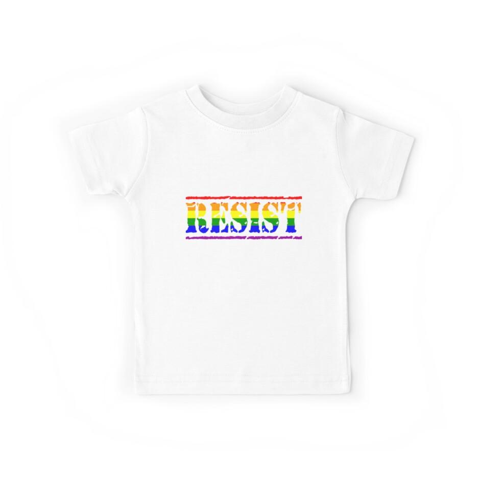 Rainbow Resist Flag Gay Pride LGBTQIAPK Resistance by cnkna