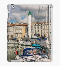 View of yachts in the old port, La Rochelle France iPad Case/Skin