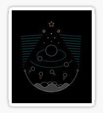 Creation in the night sky Sticker