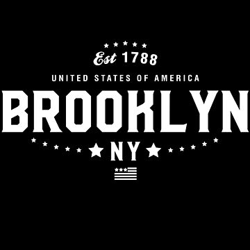 Brooklyn New York State NY Pride Home America City Souvenir Vacation Memory wanderlust road trip USA Gift Love Year by CarbonClothing