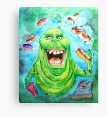 Slimer Ghostbusters Canvas Print