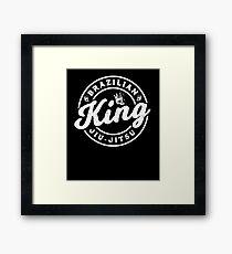 Jiu-Jitsu King MMA Grappling Judo BJJ Framed Print