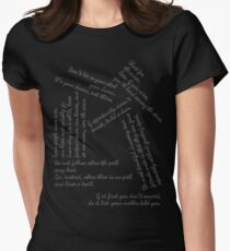 Quotes - Black and White Writing T-Shirt