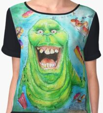 Slimer Ghostbusters Chiffon Top