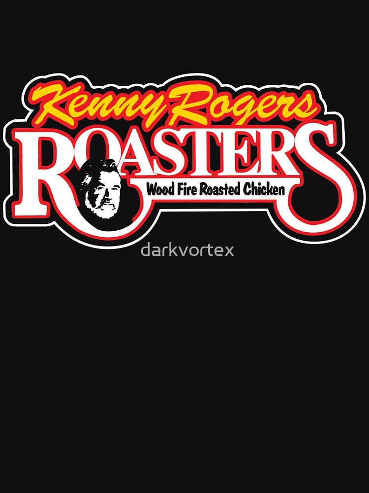 KENNY ROGERS ROASTERS T-SHIRT - Defunct Fast Food Chain Logo von darkvortex
