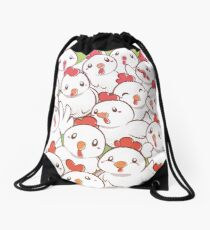 Chicken Chicken Chicken Drawstring Bag