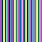 Vivid Neon Vertical Stripes 1 by J-CCreations