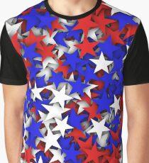 Blue, red, white stars  Graphic T-Shirt