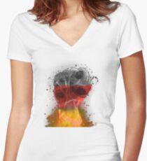 Fanshirt Germany Women's Fitted V-Neck T-Shirt