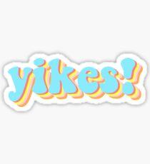 yikes sticker Sticker