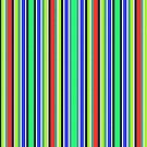 Vivid Neon Vertical Stripes 2 by J-CCreations
