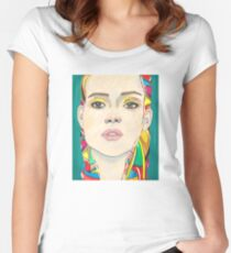 New York City Girl Women's Fitted Scoop T-Shirt