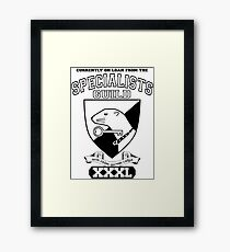 Xcrawl Specialists Guild Framed Print