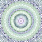 Heirloom Mandala in Pastel Green and Purple by Kelly Dietrich