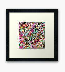 Static Nature multi-coloured Framed Print