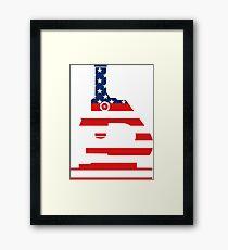 Patriotic American Flag Microscope Design Framed Print