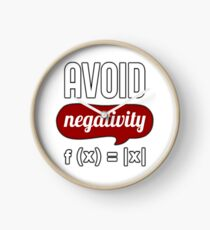 Avoid Negativity T-Shirt - Science T-Shirt Clock