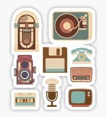 Retro Devices Sticker