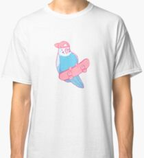 Pink and Blue Coo Bird Classic T-Shirt