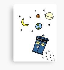 Little Tardis  Canvas Print