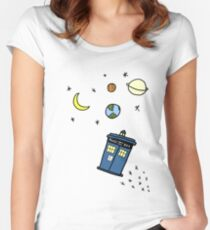 Little Tardis  Women's Fitted Scoop T-Shirt