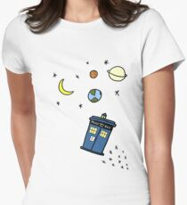 Little Tardis  Womens Fitted T-Shirt