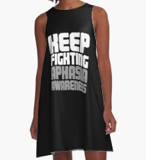 Fighting - Aphasia Awareness Gift A-Line Dress