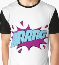 Arrrg - Anger - Comic - Explosion Graphic T-Shirt