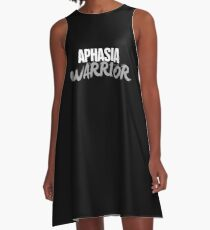 Warrior - Aphasia Awareness Gift A-Line Dress