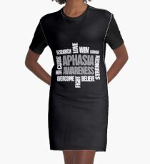 Words - Aphasia Awareness Gift Graphic T-Shirt Dress