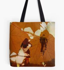 Bicycle Trail Tote Bag